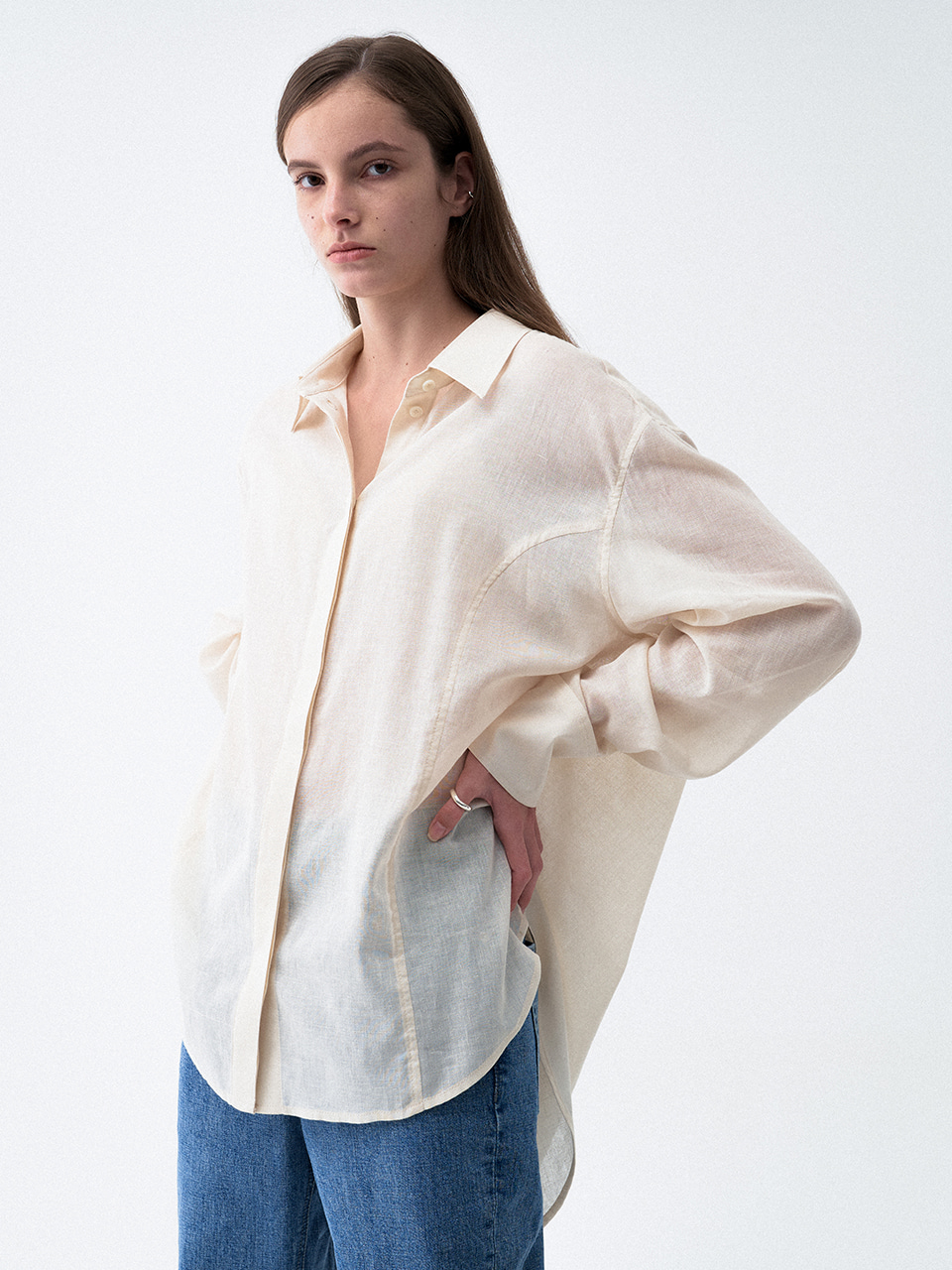 Sheer Summer Shirts Ivory